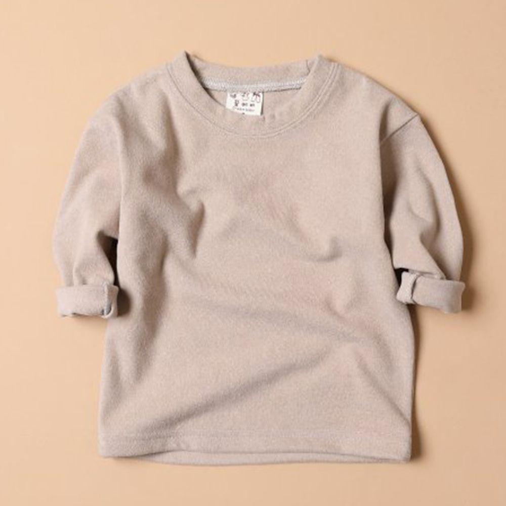 韓國製 - 毛面內搭衣-杏