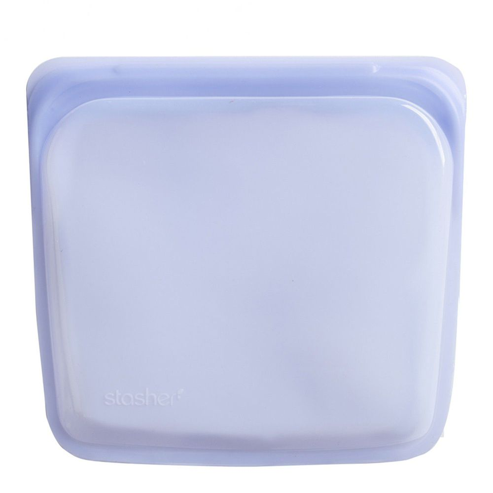 Stasher - 食品級白金矽膠密封食物袋-Sandwich方形-紫外光 (443ml)