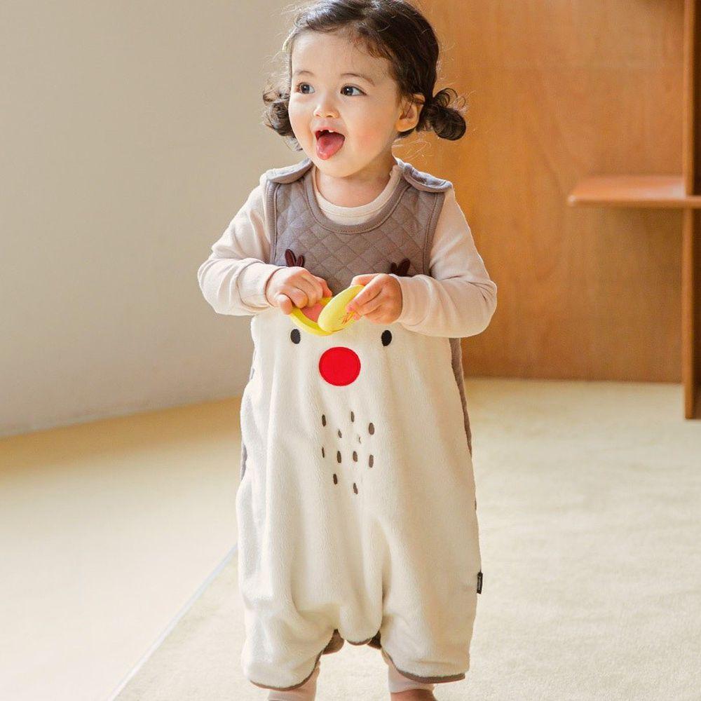 韓國 Cordi-i - 3層鋪棉保暖防踢被-聖誕麋鹿