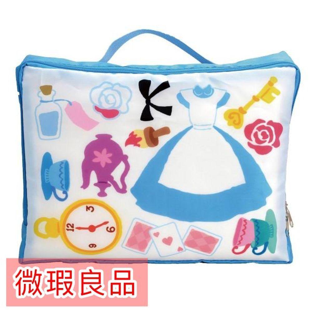 日本代購 - (微瑕良品)衣物收納袋-愛麗絲夢遊仙境 (M(34x10x26cm))