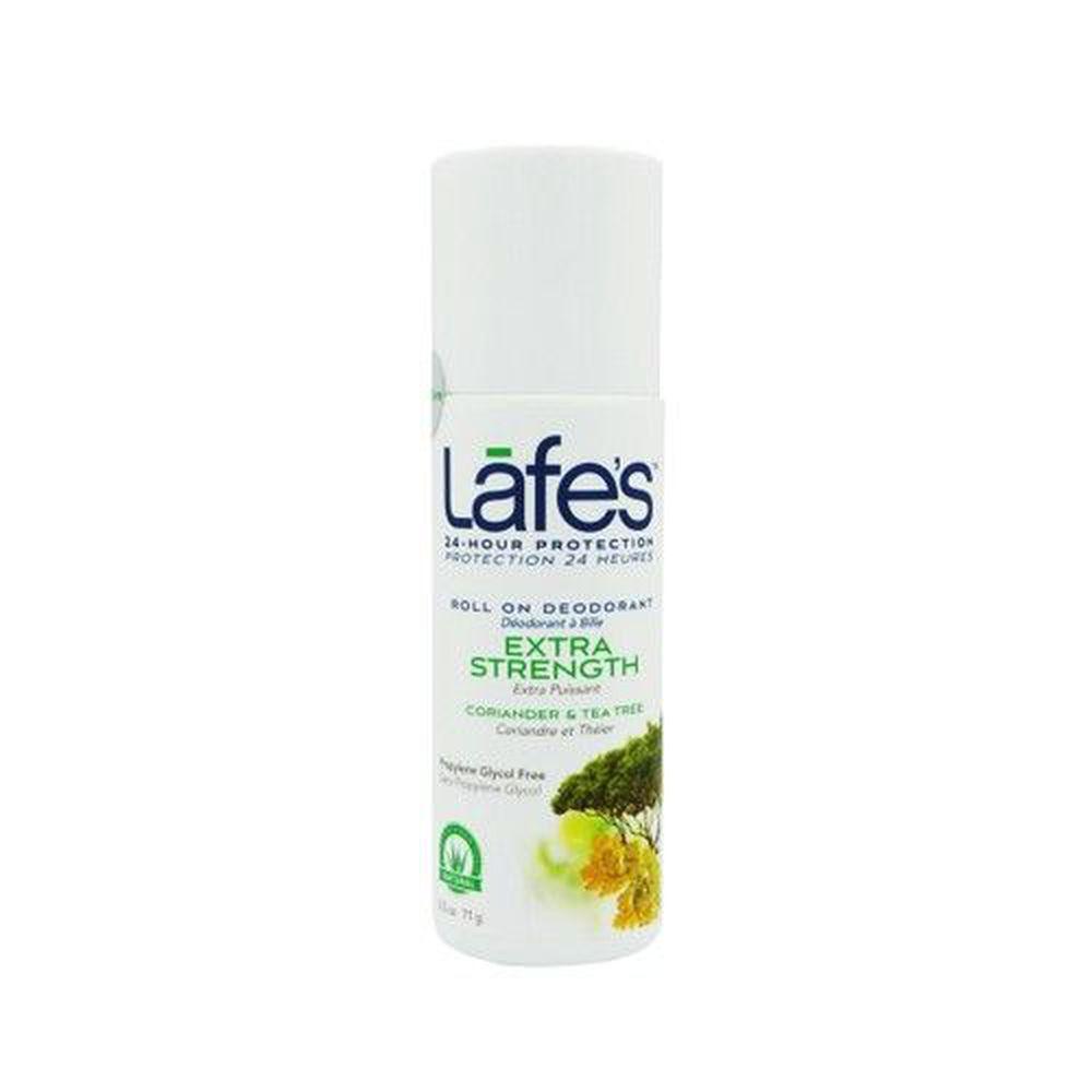 美國 Lafe's organic - 純自然體香劑-茶樹潔淨-88ml 滾珠瓶
