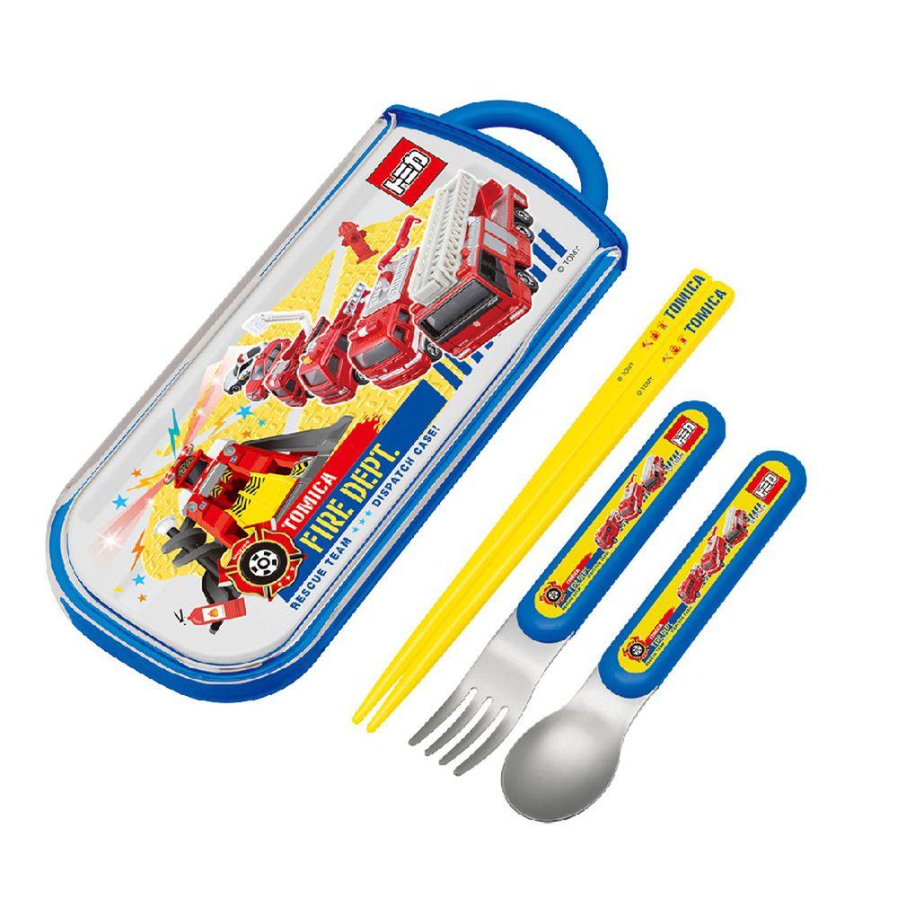 日本 SKATER - 三件式餐具組-TOMICA消防隊