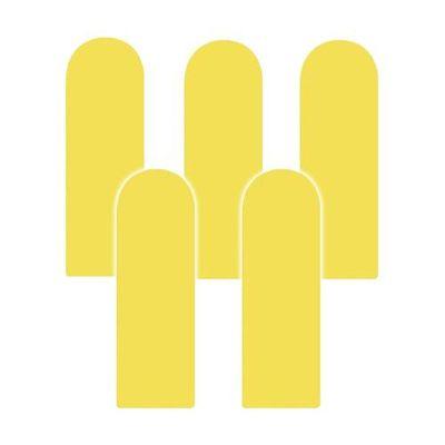 Fence 無毒護欄型防撞壁貼-黃色-5入