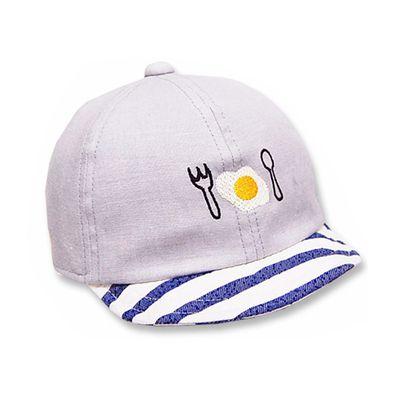 日本製可愛荷包蛋棒球帽(附彈性帽帶)-灰