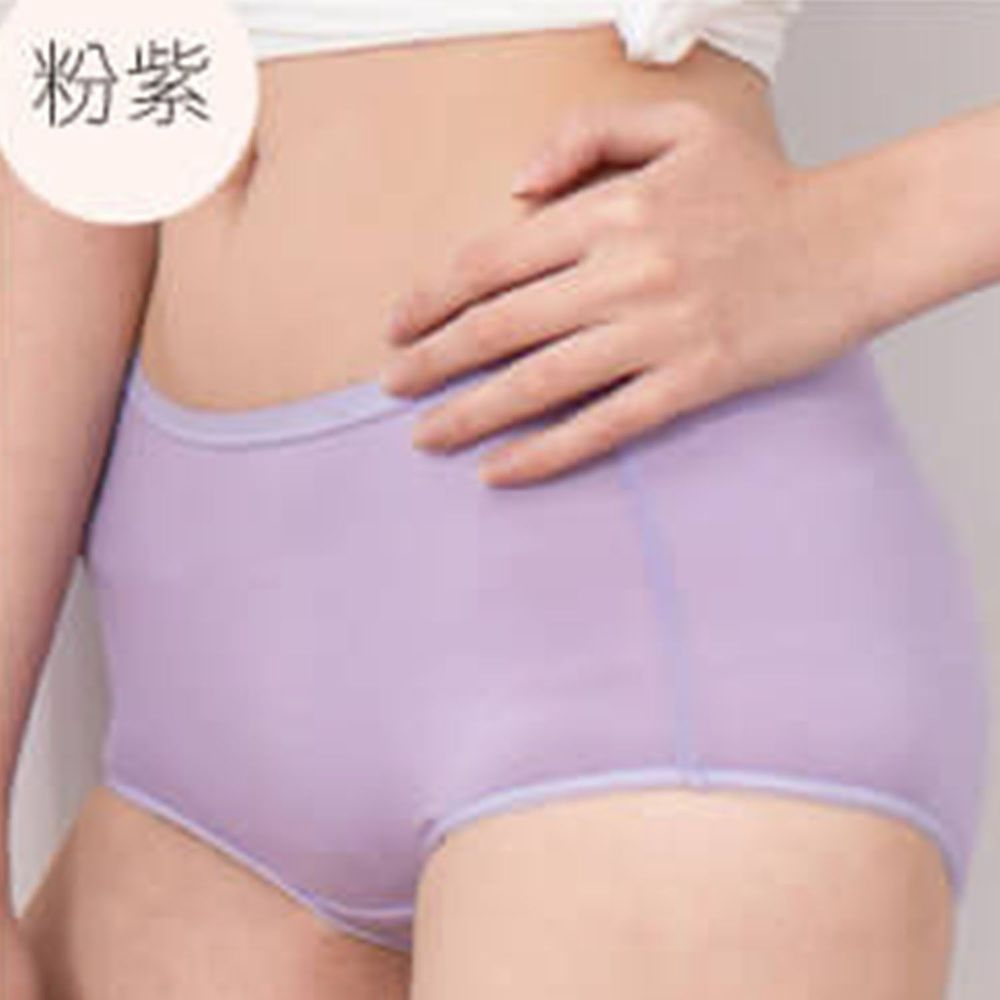 貝柔 Peilou - 天絲棉舒膚平衡女三角內褲-中腰-粉紫