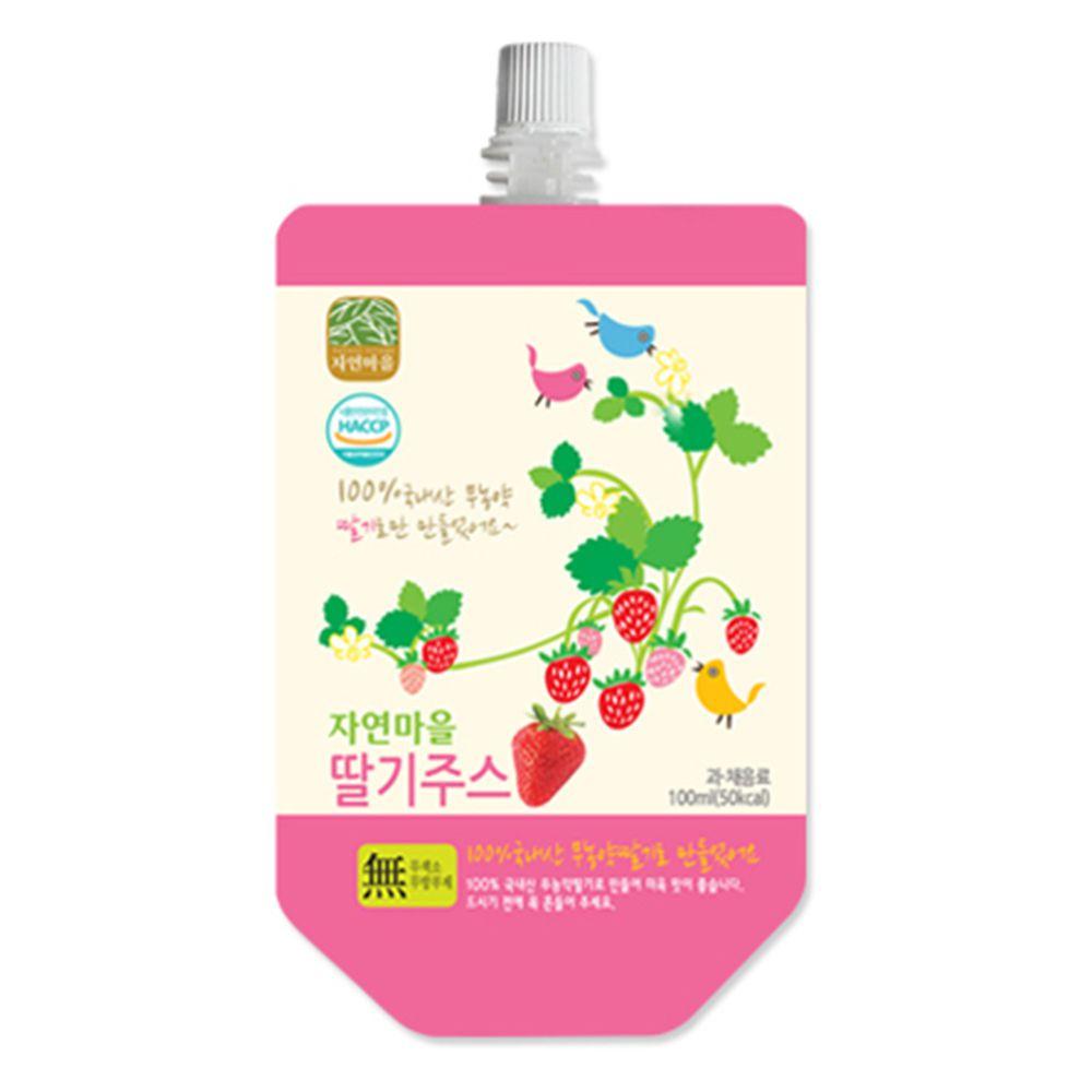 韓國自然村 - 果汁-草莓-100ml