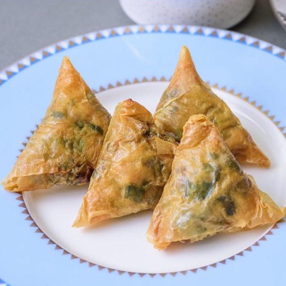 壽滿趣 - 藍帶五星低醣養生系列(韭菜三角餅10個)-250公克