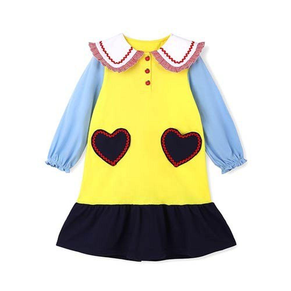 韓國 OZKIZ - 假兩件愛心童話洋裝/睡衣