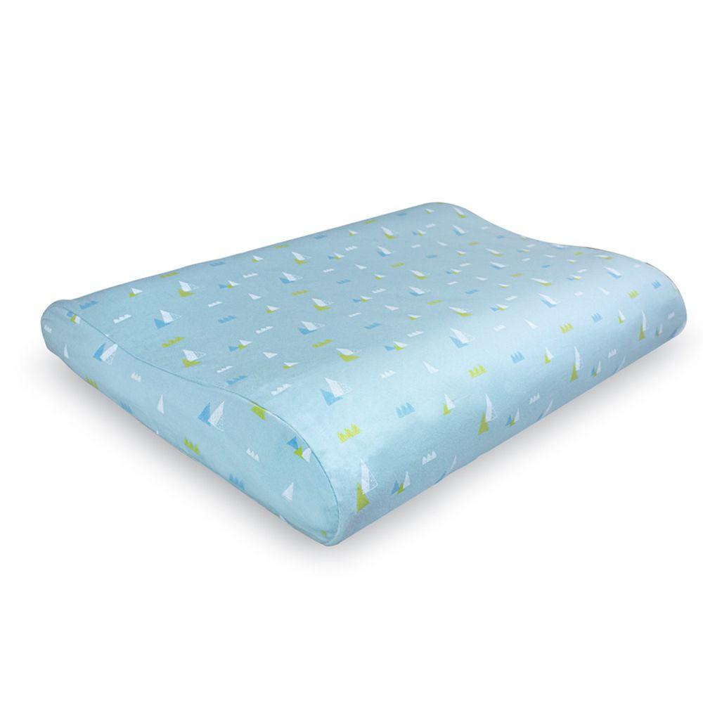 日本 Combi - Air Pro 水洗空氣枕-幼童枕-藍 (27x40x4~6cm)-6個月起
