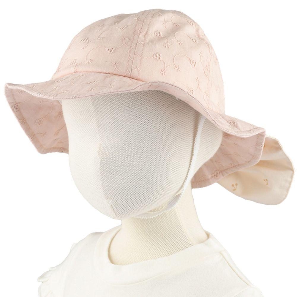 akachan honpo - 遮陽帽-櫻桃-粉紅色