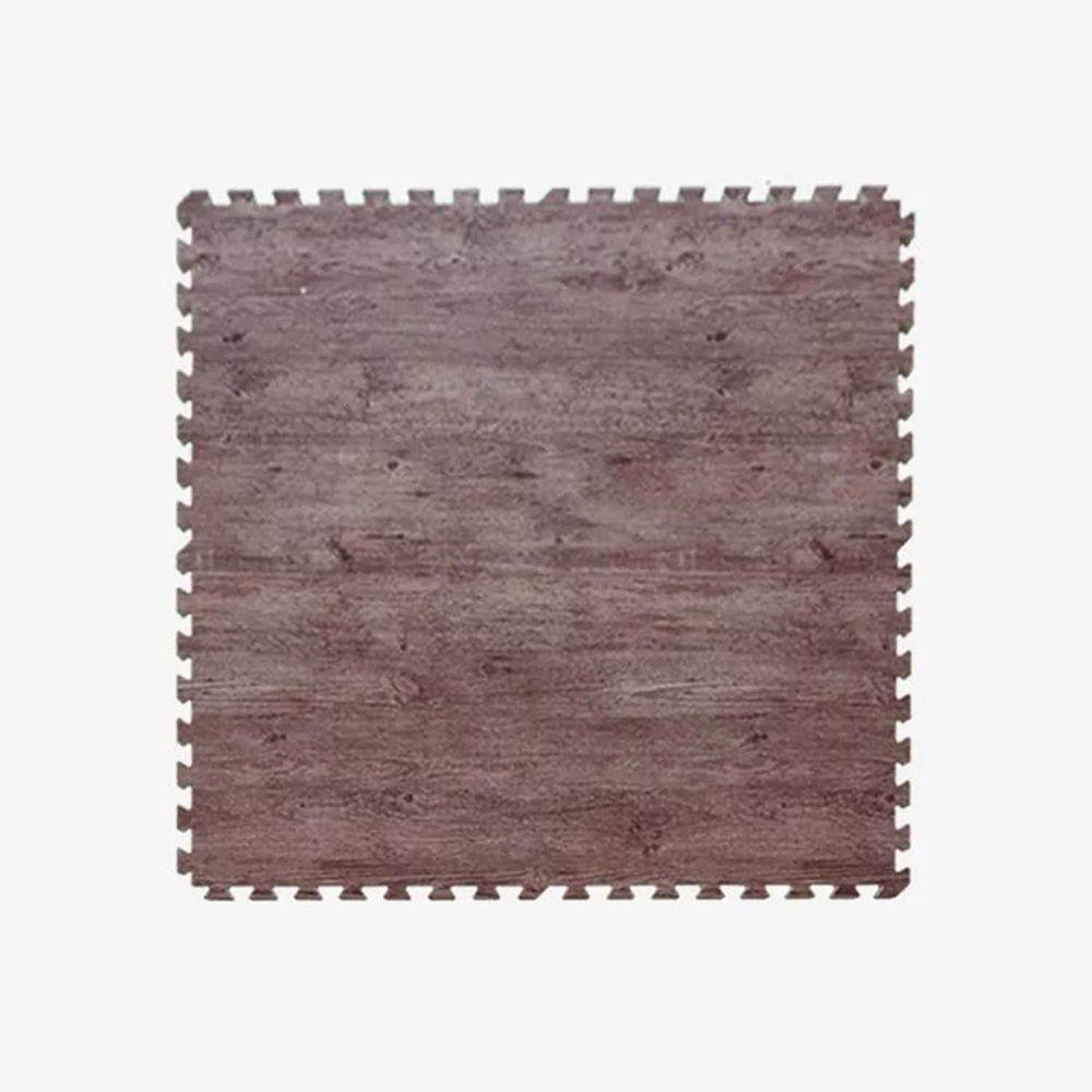 Pato.Pato - EVA巧拼地墊-自然系木紋色地墊-深木紋 (100*100*2CM)-6片(附贈邊條*24)