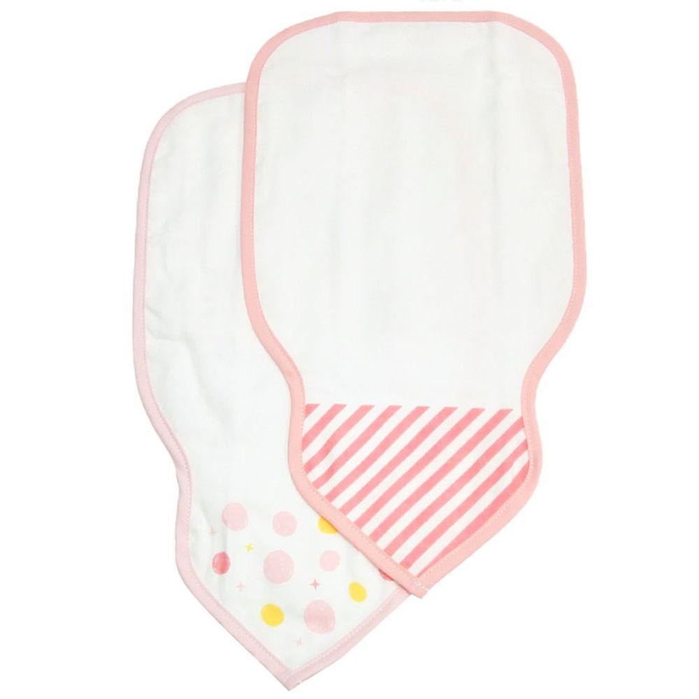 akachan honpo - 吸汗背巾2入組-橫紋-粉紅色 (34×19cm)