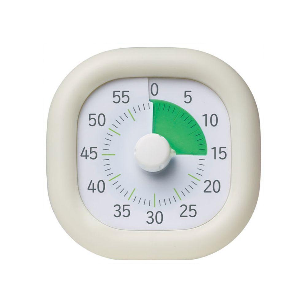 日本文具 SONIC - 時間流逝實感 倒數時鐘/倒數器-60mins版-象牙白 (10cm)