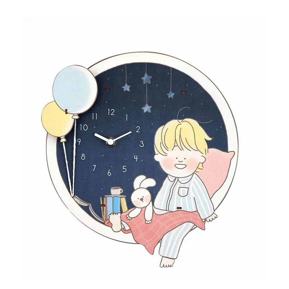 KINYO - 晚安男孩搖擺鐘 (29.3x26x5cm)-MCL3462