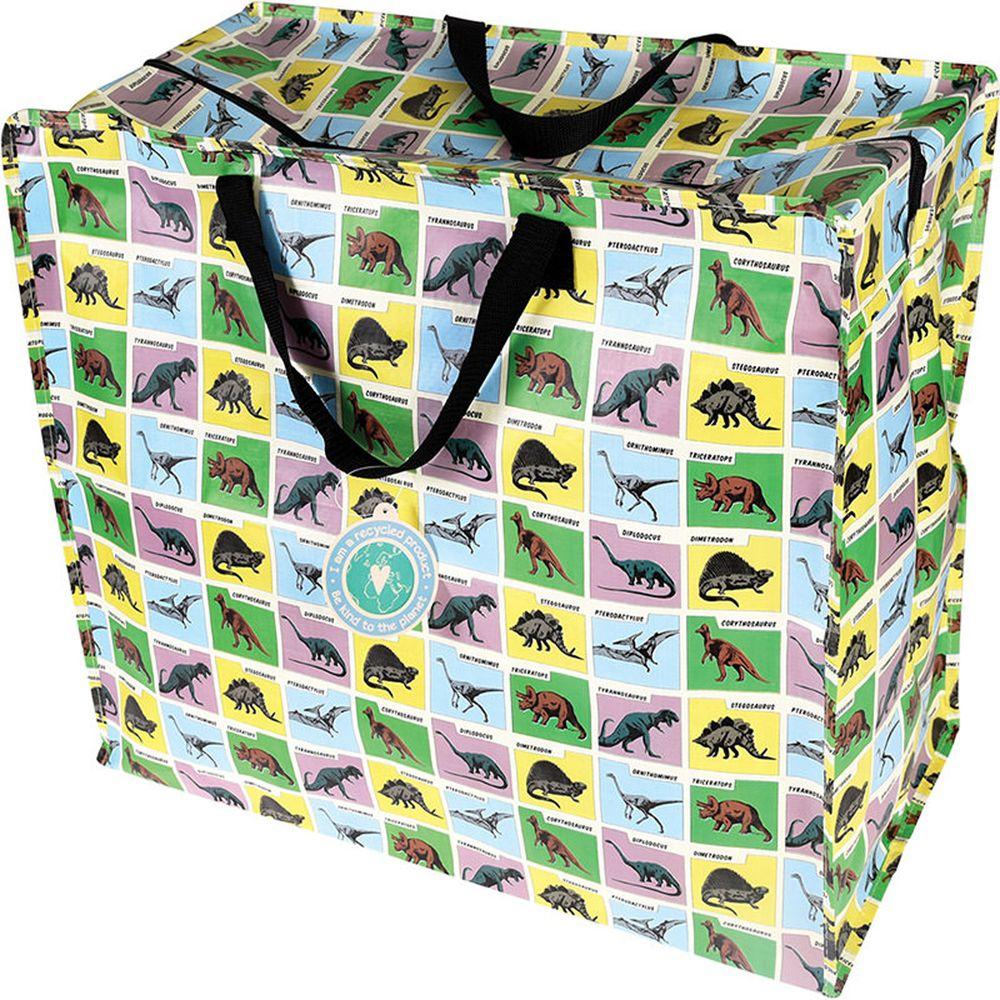 英國 Rex London - 衣物/棉被超大多功能防水環保收納袋/萬用袋-恐龍樂園