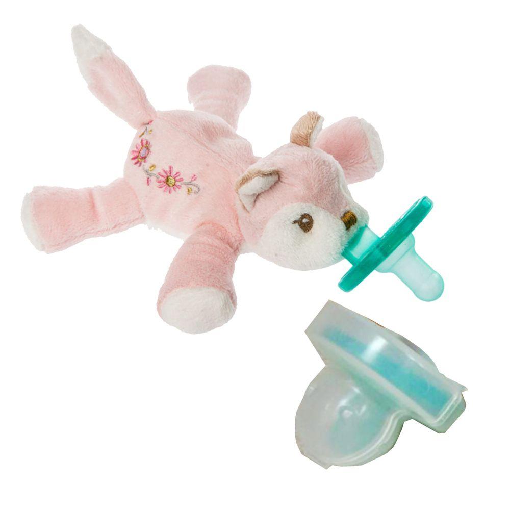美國 MaryMeyer 蜜兒 - 玩偶安撫奶嘴-收納絕配組-夢幻狐+奶嘴專用盒(透明)