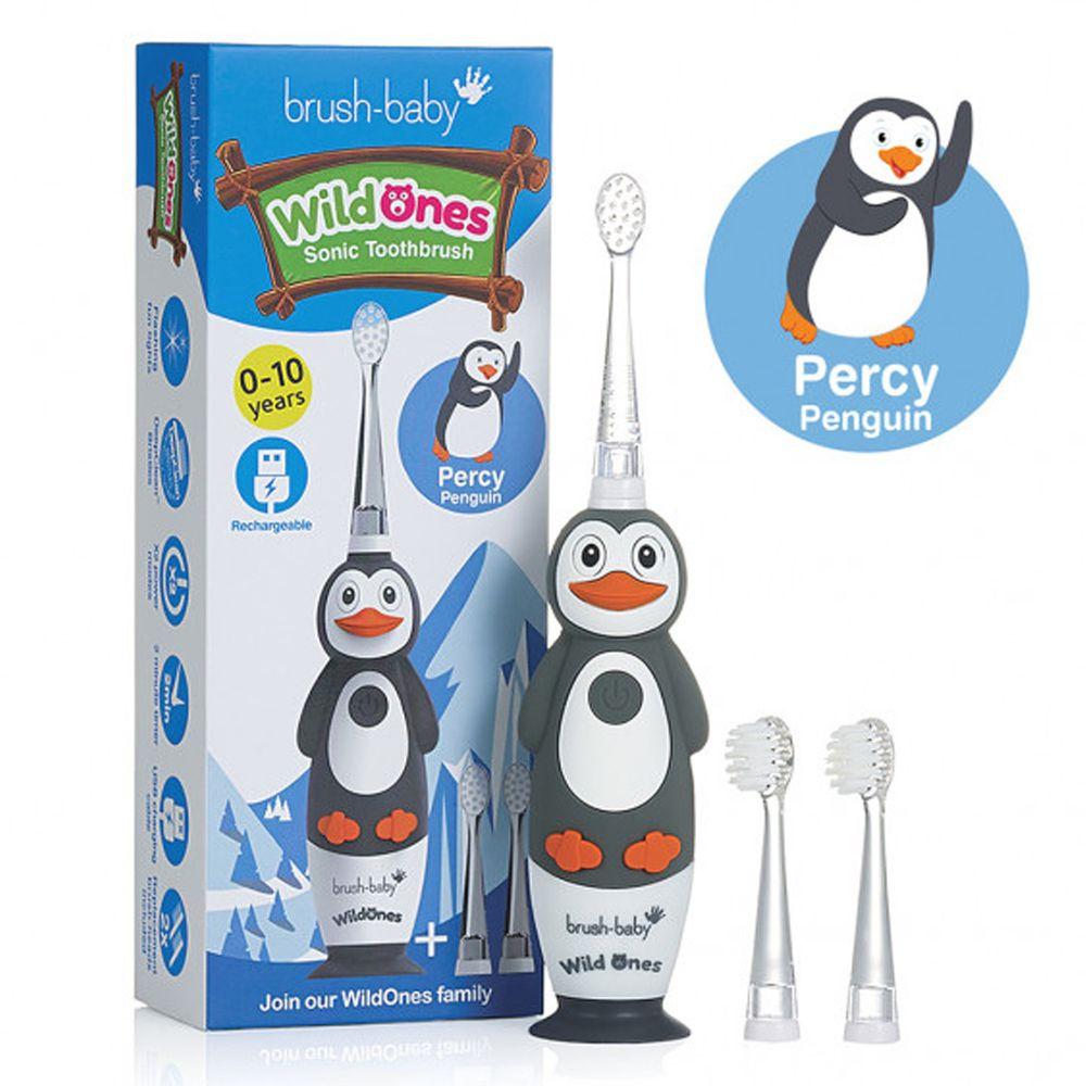 英國 brush-baby - 充電式聲波電動牙刷-企鵝-帕西-0-10歲