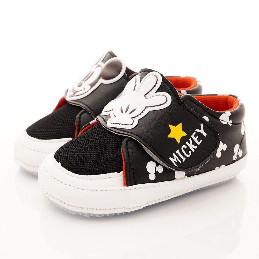 Disney - 米奇不對稱軟軟學步鞋(寶寶段)-黑