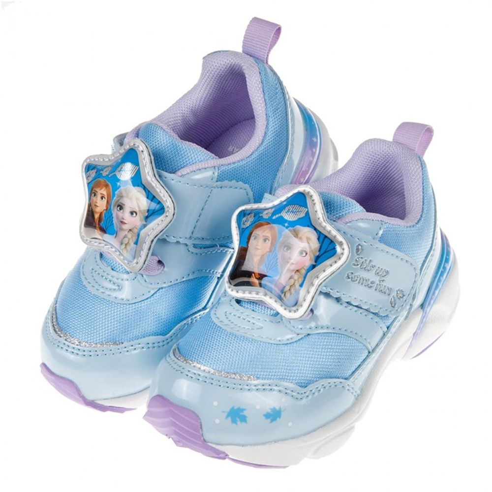 Moonstar日本月星 - Moonstar冰雪奇緣二代LED電燈藍色兒童機能運動鞋