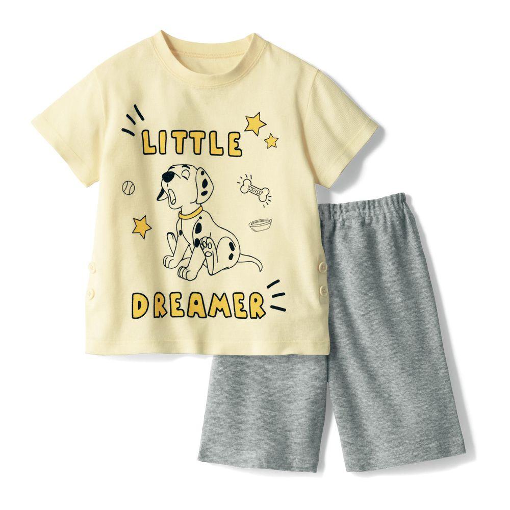 日本千趣會 - 迪士尼純棉短袖家居服-101忠狗-米灰