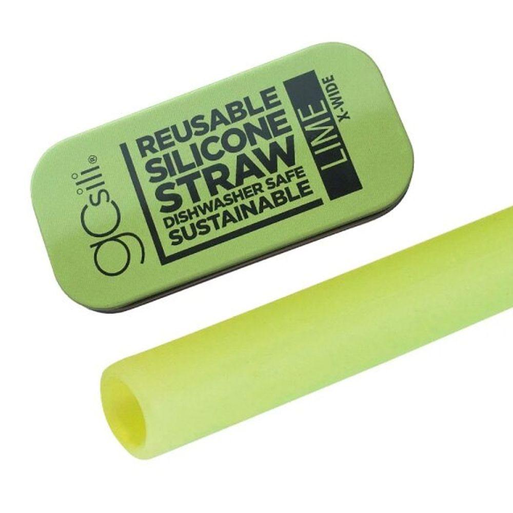 美國GoSili - 單支珍奶吸管隨行組-Lime-附鐵盒-青檸檬