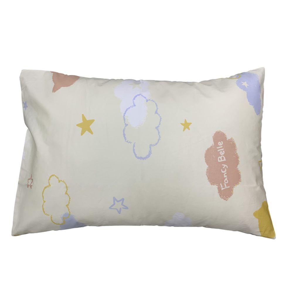 格蕾寢飾 Great Living - 義大利Fancy Belle純棉兒童枕套--1入-貓咪雲朵-白