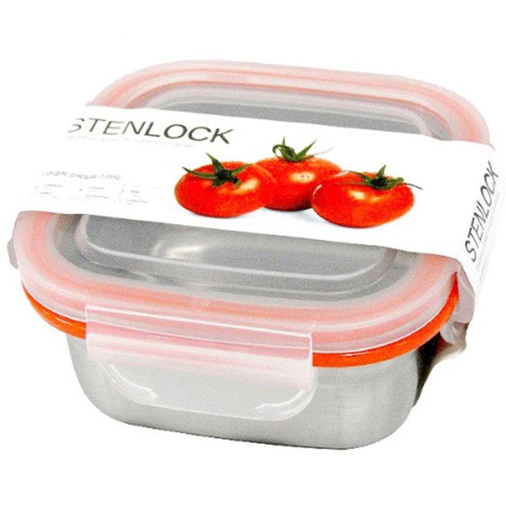 STENLOCK - STENLOCK 史丹利高級不銹鋼保鮮盒 380ml-正方形