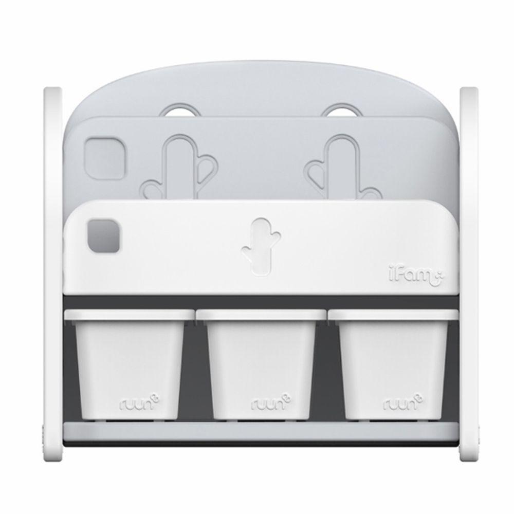 韓國 iFam - 書架收納組 〈附白色收納盒x3〉-白色