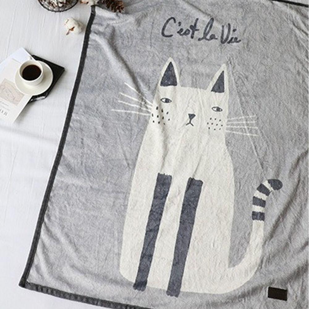 韓國 Bebe Deco - 法蘭絨毛毯/被毯-貓咪