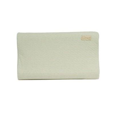 有機棉兒童護頸乳膠枕-經典條紋系列-自然綠 (50x30x9cm)-6個月起