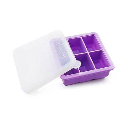 矽膠副食品分裝盒/製冰盒-6 格-紫色-6格x70mL