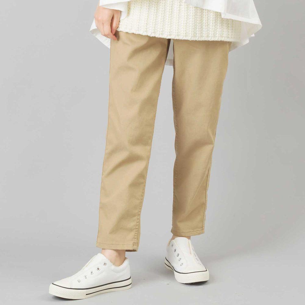 日本女裝代購 - 舒適彈力休閒褲 (全腰鬆緊)-咖啡杏