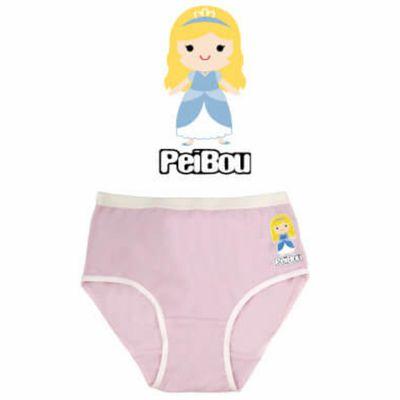 天絲棉舒膚平衡童女三角褲-灰姑娘-粉紅