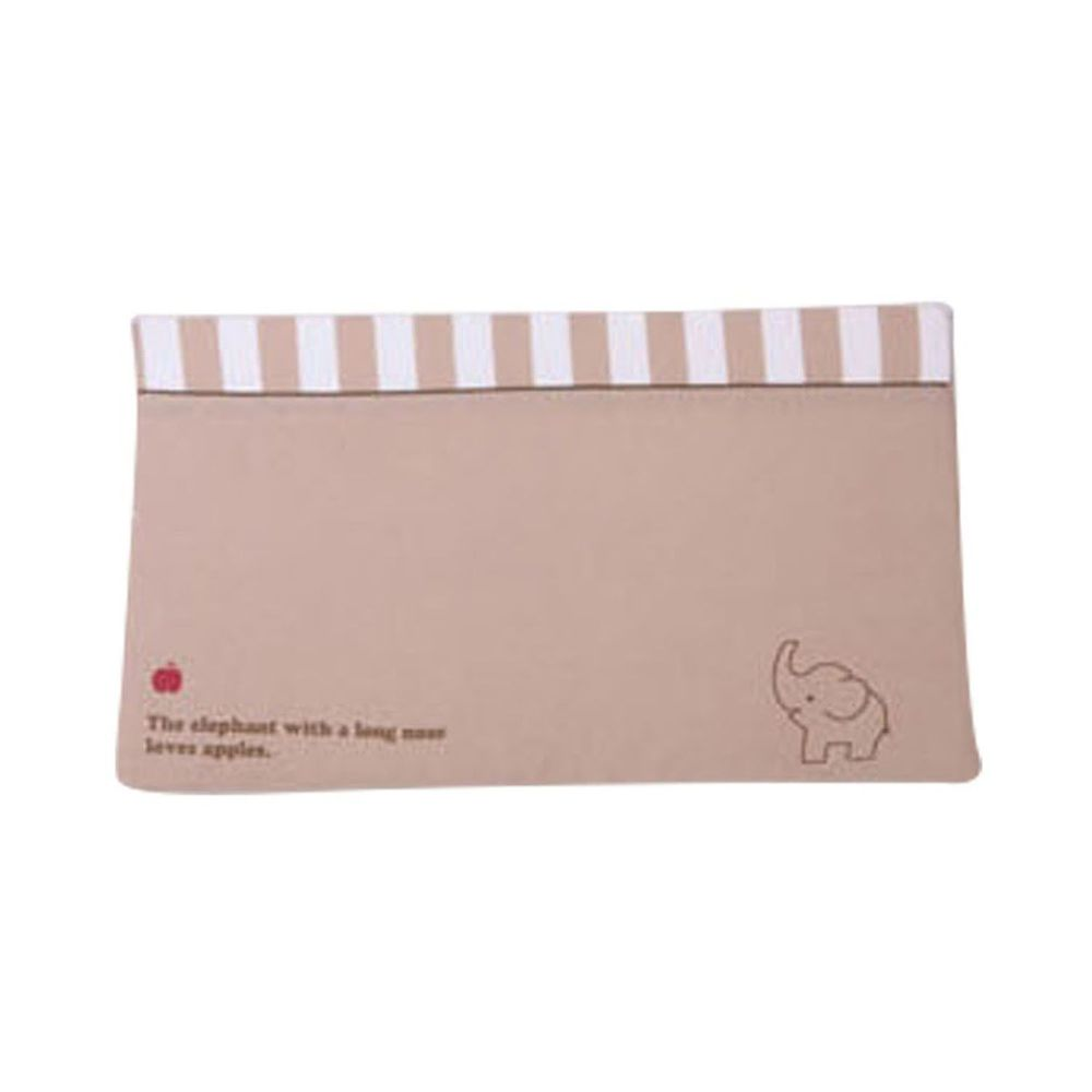 JoyNa - 孕婦側睡枕 嬰兒防吐奶枕(枕套可拆洗)-卡其小象 (58*35*7cm)