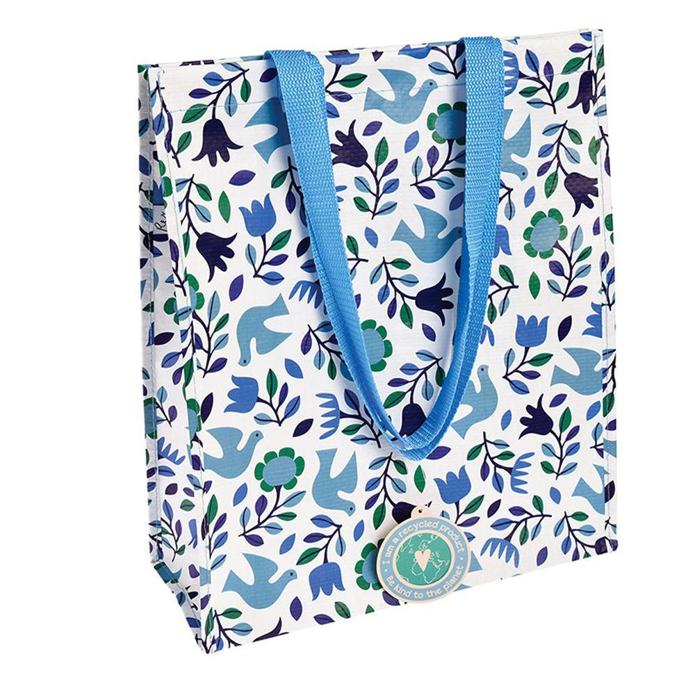英國 Rex London - 環保多功能購物袋/萬用袋-藍鴿子