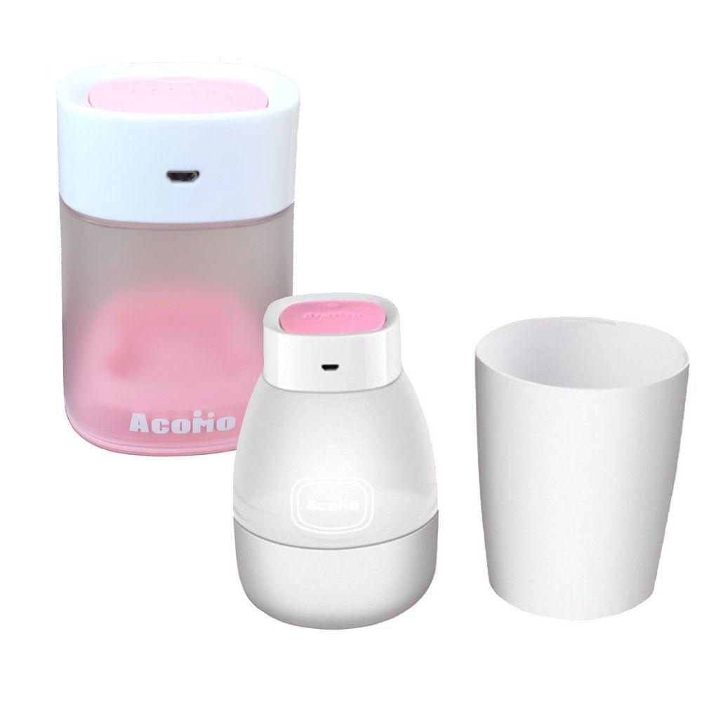 AcoMo - PS II USB 紫外線消毒器特惠組-6 分鐘殺菌可攜式消毒器+2 分鐘奶嘴個人消毒器-Pink/粉色