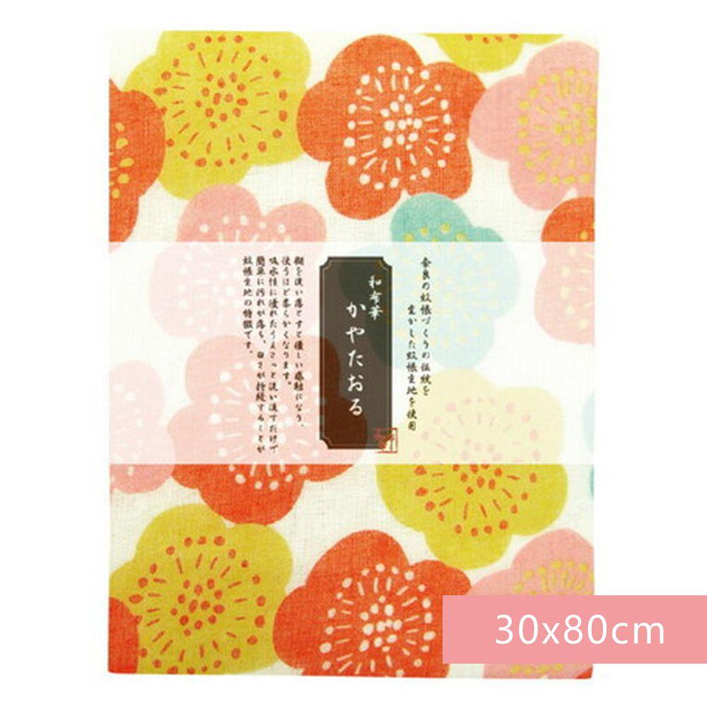 日本代購 - 【和布華】日本製奈良五重紗 長毛巾-繽紛花梅 (30x80cm)