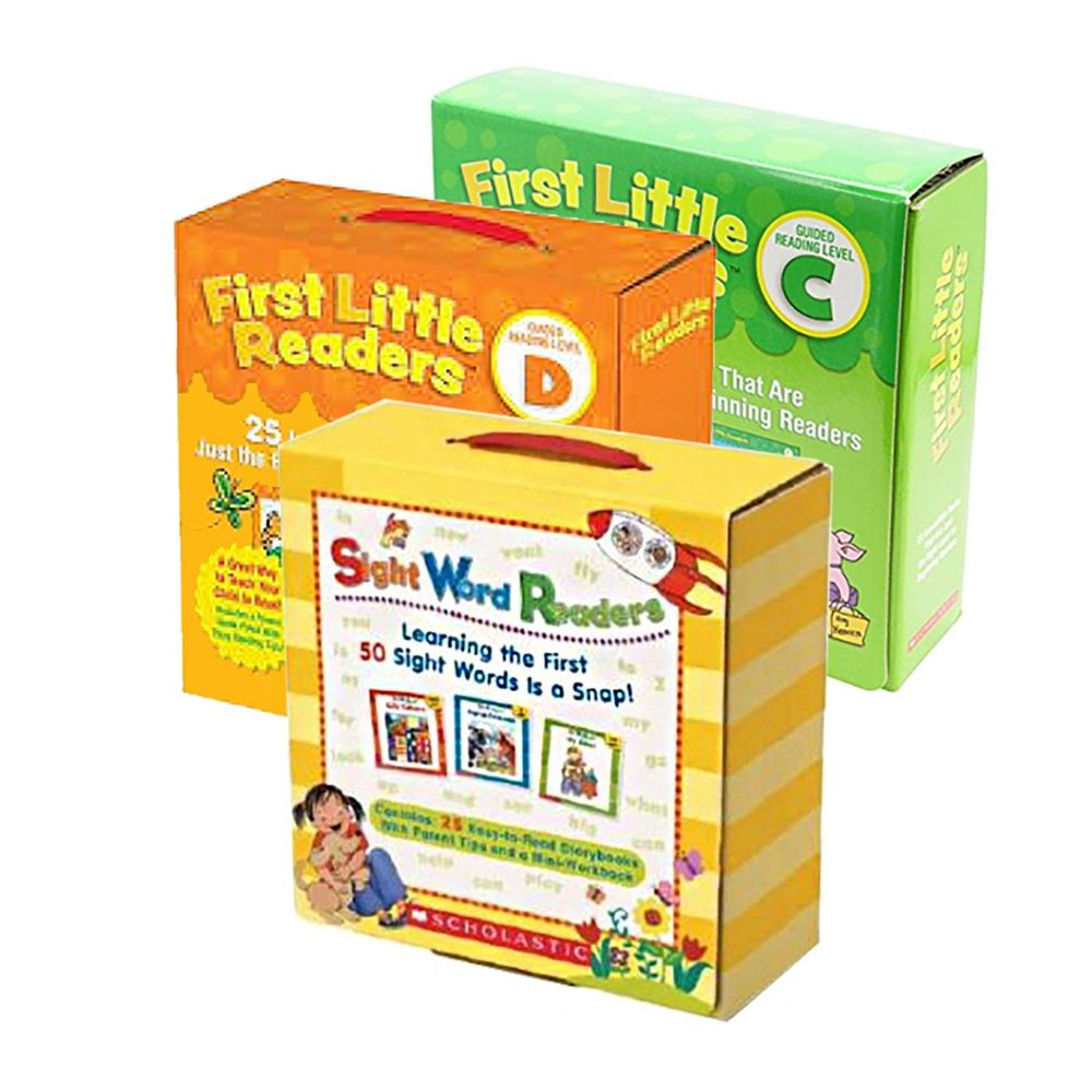 Scholastic - 【超值合購】我的第一套小小閱讀文庫First Little Readers Level C+D+Sight Word Readers Boxed Set-三盒
