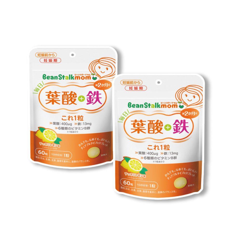 SNOW 雪印 - 雪印葉酸.鐵營養錠*2包入-60顆/包