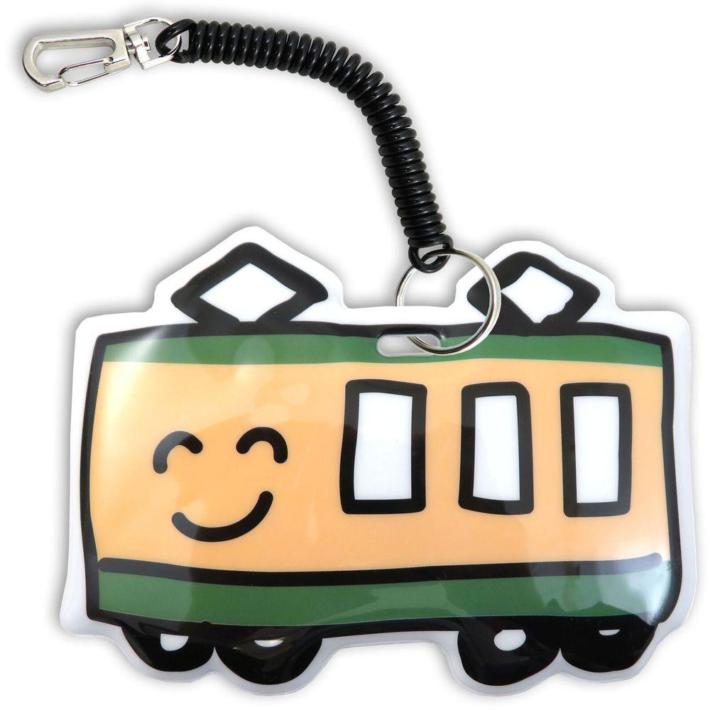 日本 OKUTANI - 童趣插畫悠遊卡套-電車