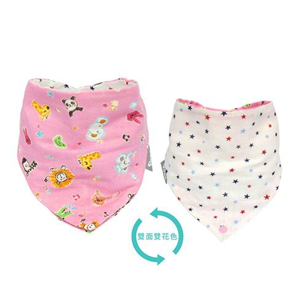 YODA - 和風透氣六層紗扣扣兜-粉紅馬戲團