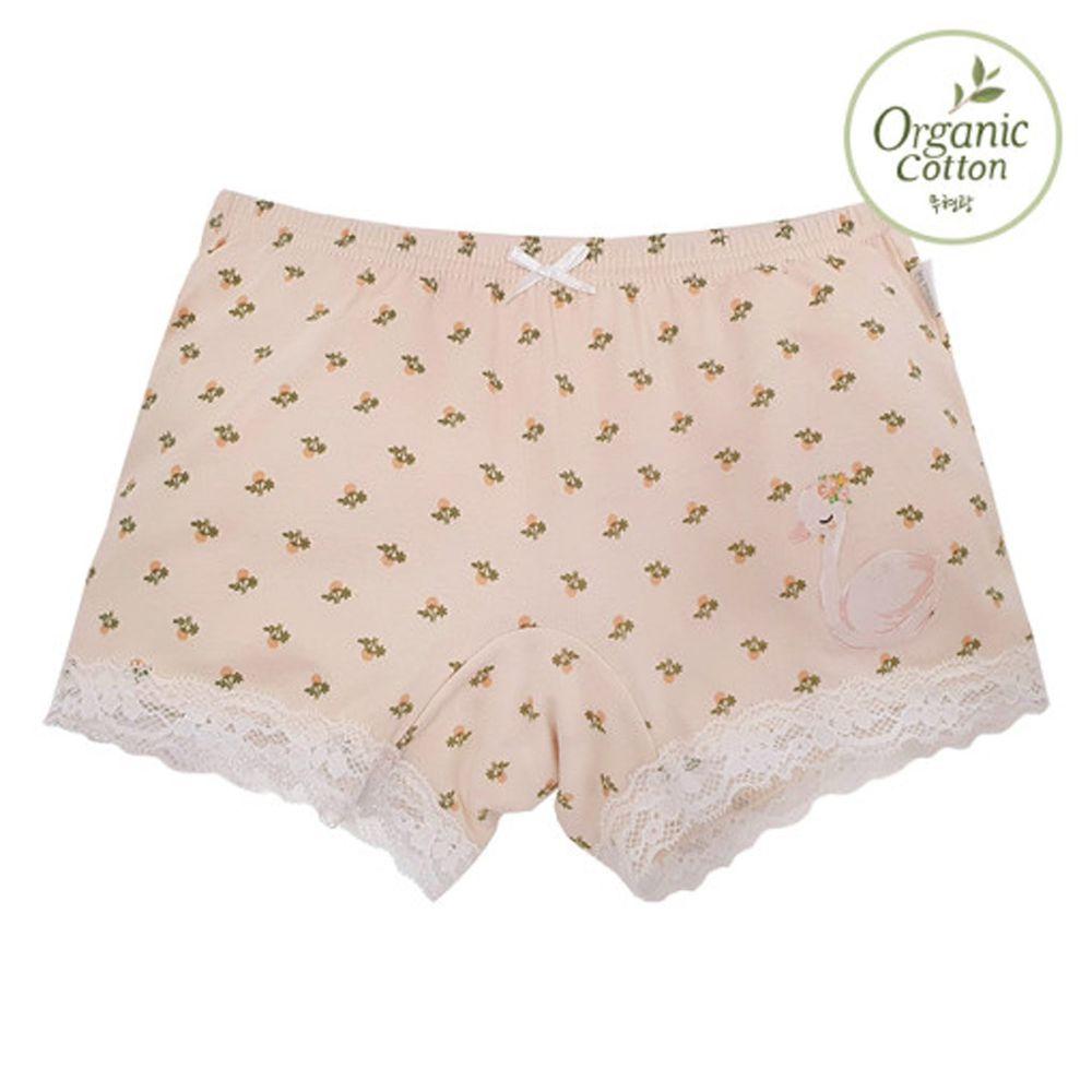韓國 Ppippilong - 有機棉透氣四角褲(女寶)-天鵝女王