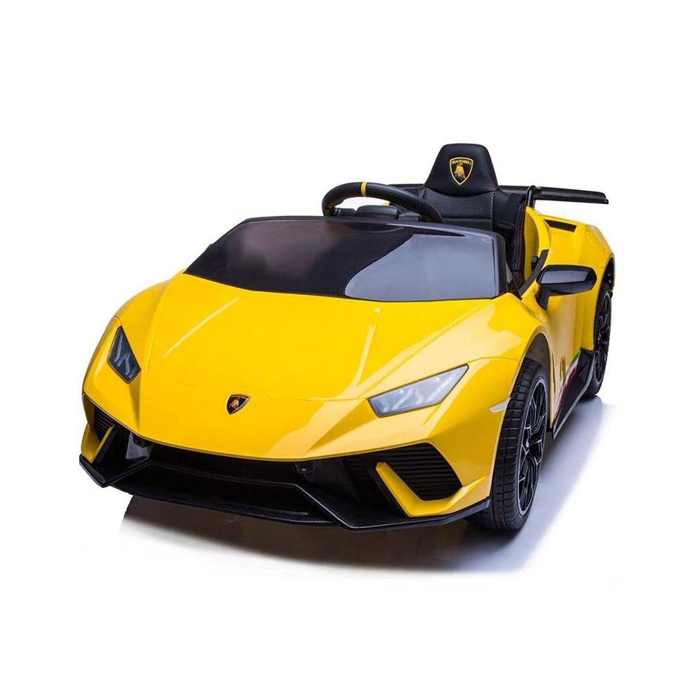 聰明媽咪兒童超跑 - 藍寶堅尼 Huracan 原廠授權 四驅兒童電動車-拋光黃