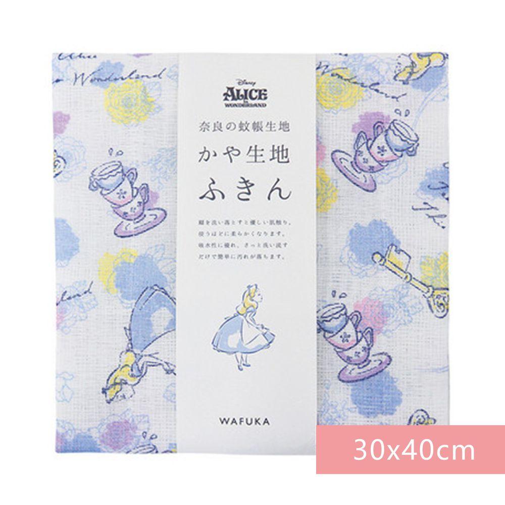 日本代購 - 【和布華】日本製奈良五重紗 方巾-愛麗絲夢遊仙境 (30x40cm)