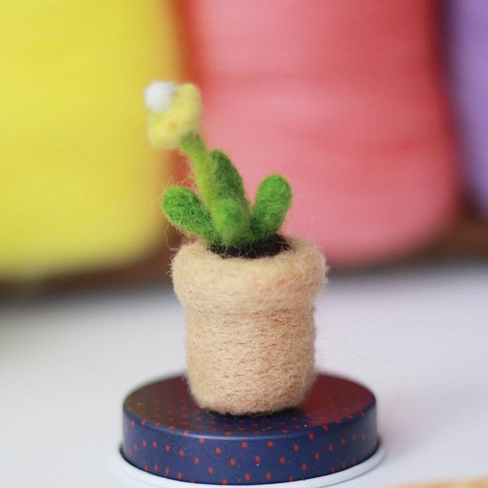 Diy植物造型羊毛氈戳戳樂材料包-黃色小花