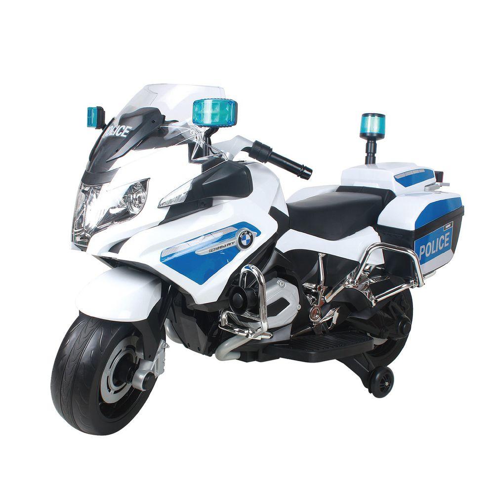 Ching Ching - BMW 重機警車兒童電動摩托車 (原廠授權)-白色
