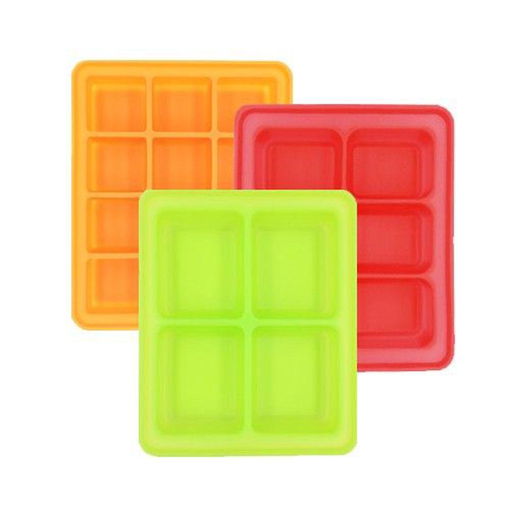 韓國 Pomier 朴蜜兒 - BabyJoy 100% 鉑金矽膠副食品保存盒 (4格x1+6格x1+12格x1)