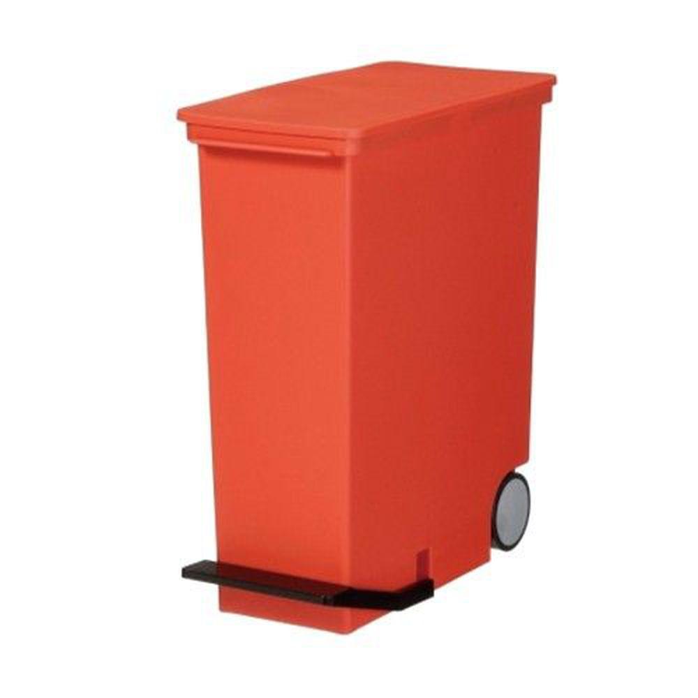 日本 LIKE IT - 直立式分類垃圾桶-紅色-33L