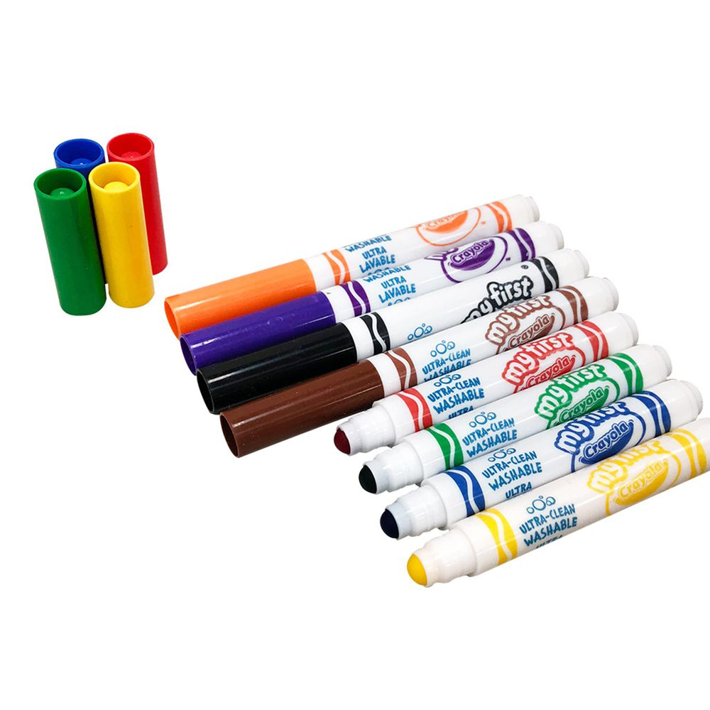 Crayola繪兒樂 - 幼兒可水洗彩色筆8色