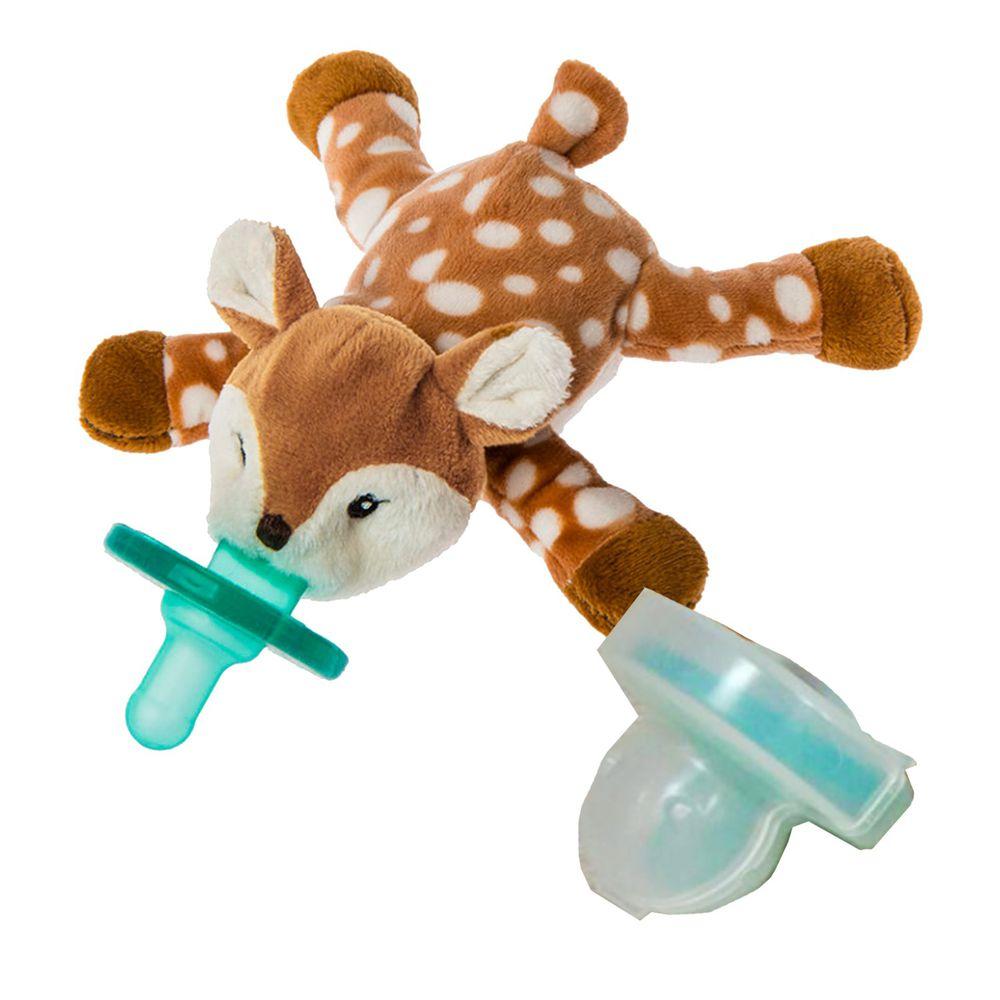 美國 MaryMeyer 蜜兒 - 玩偶安撫奶嘴-收納絕配組-梅花小鹿+奶嘴專用盒(透明)